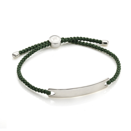 Havana Men's Friendship Bracelet - Khaki Green - Monica Vinader