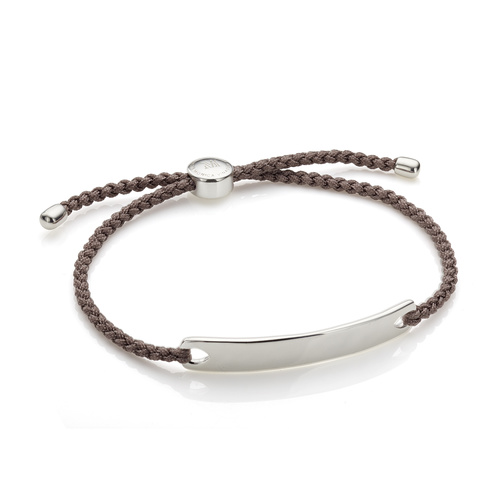 Sterling Silver Havana Men's Friendship Bracelet - Mink - Monica Vinader