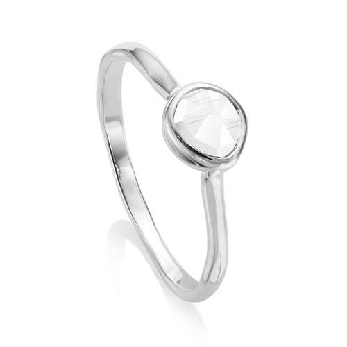 Siren Small Stacking Ring - Rock Crystal - Monica Vinader