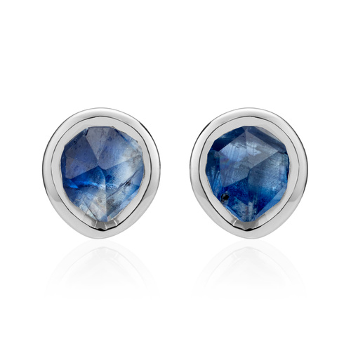 Sterling Silver Siren Mini Stud Earrings - Kyanite - Monica Vinader