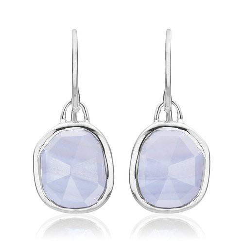 Siren Wire Earrings - Blue Lace Agate - Monica Vinader