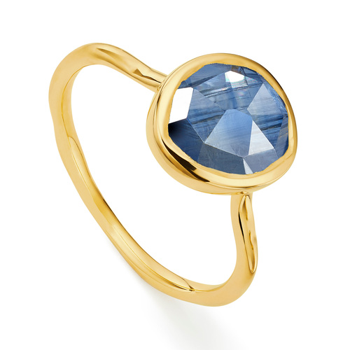 Gold Vermeil Siren Stacking Ring - Kyanite - Monica Vinader