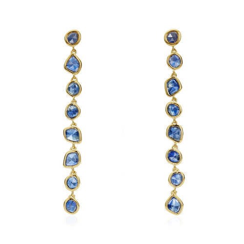 Gold Vermeil Siren Mini Nugget Cocktail Earrings - Kyanite - Monica Vinader