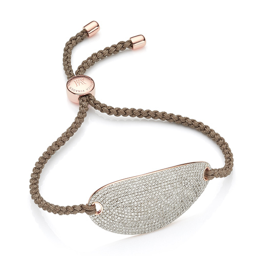Rose Gold Vermeil Nura Friendship Diamond Bracelet - Diamond - Monica Vinader