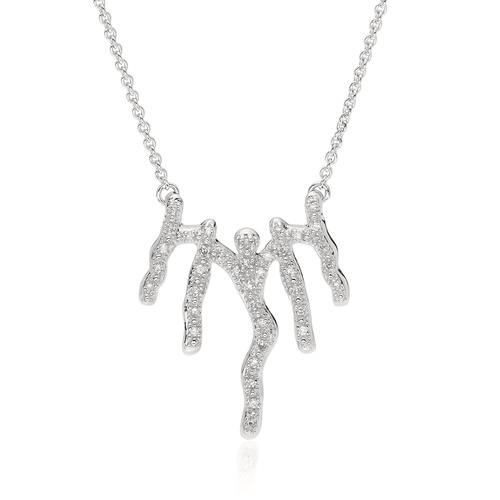 Riva Waterfall Diamond Necklace - Diamond - Monica Vinader
