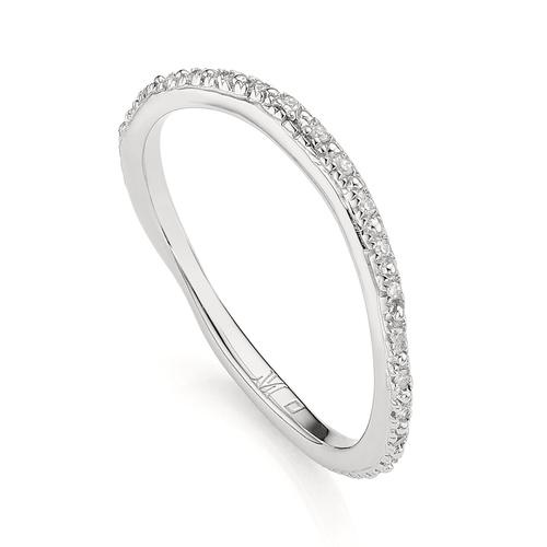 Riva Wave Eternity Diamond Ring - Diamond - Monica Vinader