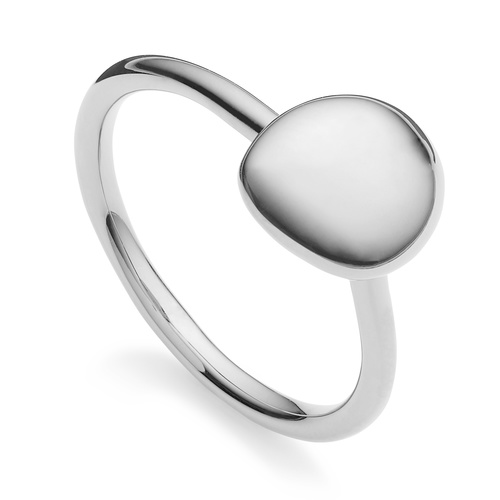 Sterling Silver Nura Small Pebble Stacking Ring - Monica Vinader