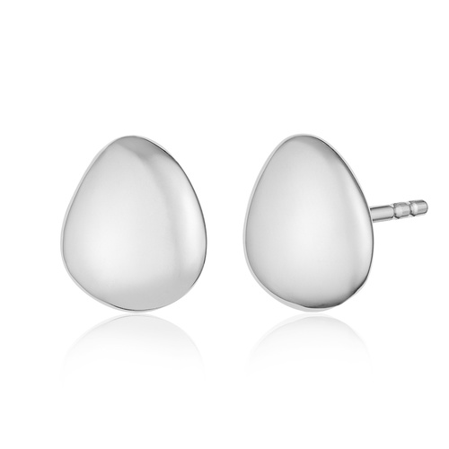 Sterling Silver Nura Small Pebble Stud Earrings - Monica Vinader