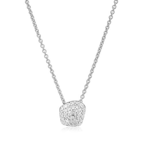 Nura Mini Nugget Necklace  - Diamond - Monica Vinader