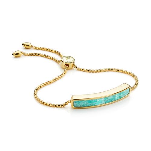 Gold Vermeil Baja Bracelet - Amazonite - Monica Vinader