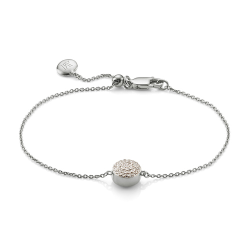 Fiji Button Bracelet - Diamond - Monica Vinader
