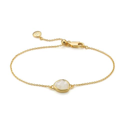 Gold Vermeil Siren Fine Chain Bracelet - Moonstone - Monica Vinader