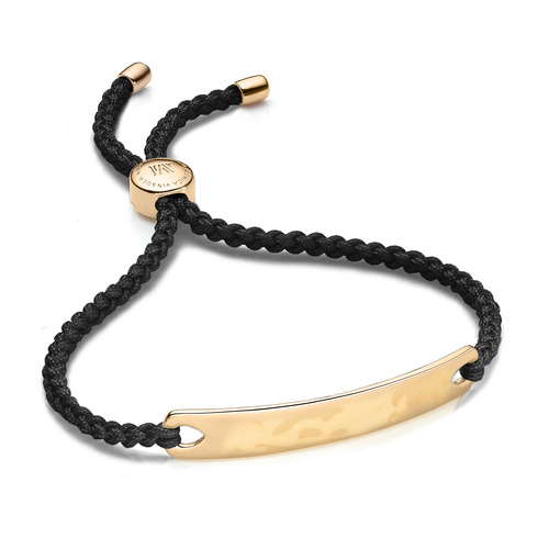 Gold Vermeil Havana Friendship Bracelet - Black - Monica Vinader