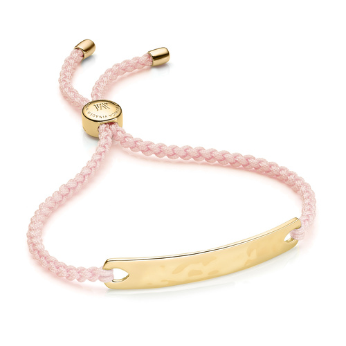 Gold Vermeil Havana Friendship Bracelet - Ballet Pink - Monica Vinader
