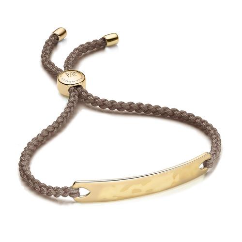 Gold Vermeil Havana Friendship Bracelet - Mink - Monica Vinader