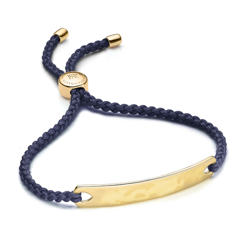 Gold Vermeil Havana Friendship Bracelet - Navy Blue - Monica Vinader