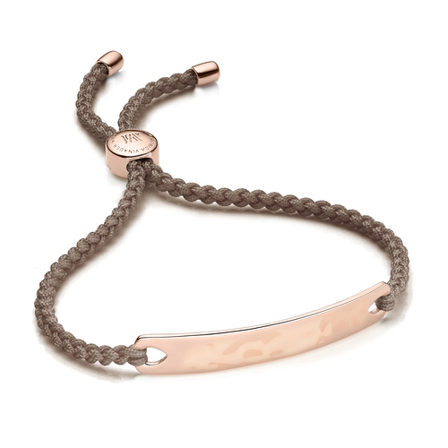 Rose Gold Vermeil Havana Friendship Bracelet - Mink - Monica Vinader