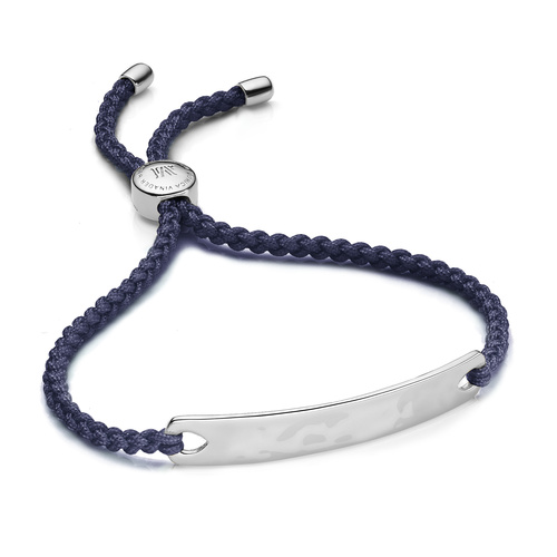 Havana Friendship Bracelet - Navy Blue - Monica Vinader