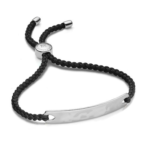 Sterling Silver Havana Friendship Bracelet - Black - Monica Vinader