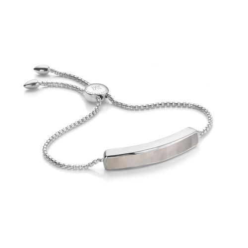 Sterling Silver Baja Bracelet - Grey Agate - Monica Vinader