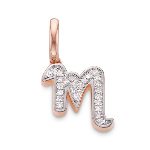 Gold Diamond Alphabet Pendant M Diamond Monica Vinader jI1mR6tUO