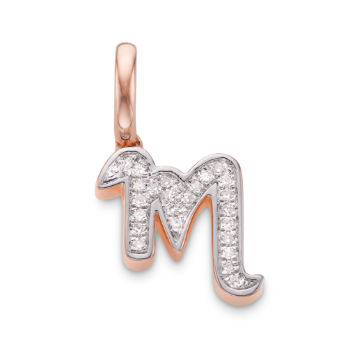 Sterling Silver Diamond Alphabet Pendant O Diamond Monica Vinader qOqGk