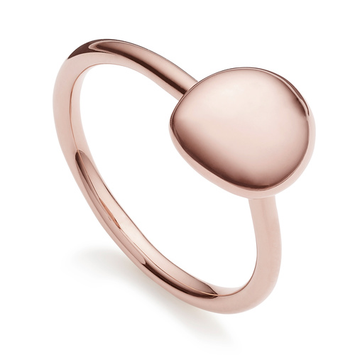 Rose Gold Vermeil Nura Small Pebble Stacking Ring - Monica Vinader
