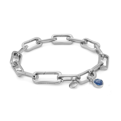 Alta Capture Charm Bracelet and Siren Mini Bezel Pendant Charm Set - Kyanite - Monica Vinader