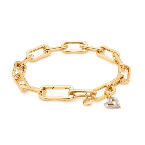 Alta Capture Charm Bracelet and Alphabet Diamond Pendant Charm Set - Monica Vinader