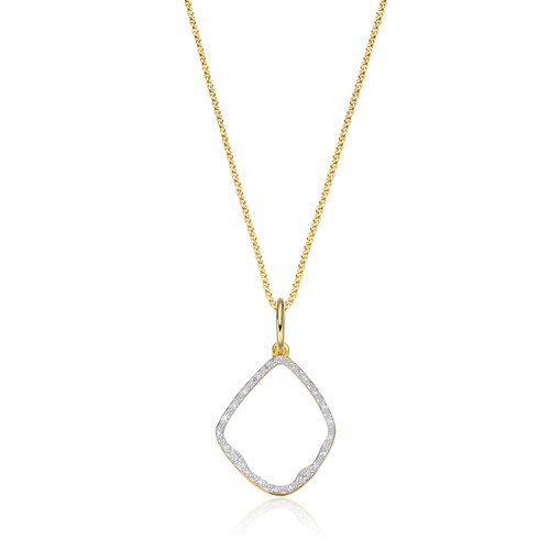 Riva Diamond Pendant Charm Necklace Set - Monica Vinader
