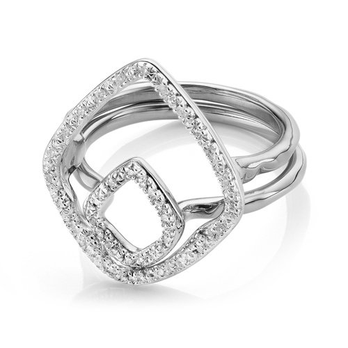 Riva Hoop and Kite Diamond Ring Set - Monica Vinader