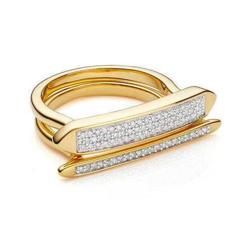 Baja and Skinny Diamond Ring Set - Monica Vinader