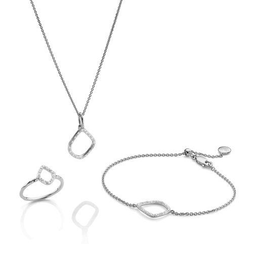 Riva Kite Ring, Bracelet and Necklace Diamond Set - Monica Vinader