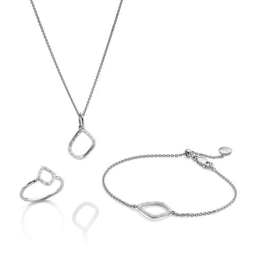 Riva Kite Ring, Bracelet and Necklace Diamond Set - Monica Vinader