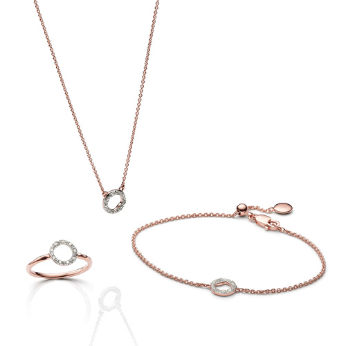 Riva Circle Ring, Bracelet and Necklace Diamond Set - Monica Vinader