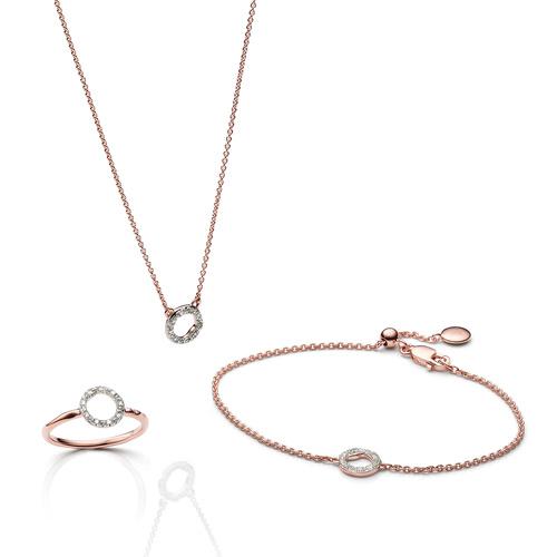 Riva Circle Ring, Bracelet and Necklace Diamond Set - Monica Vinader