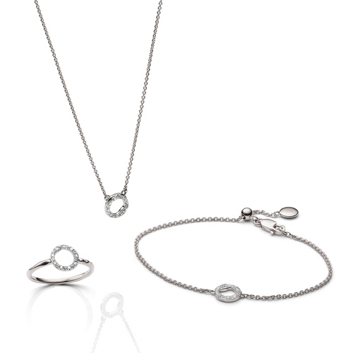 Riva Circle Ring, Necklace and Bracelet Diamond Set - Monica Vinader