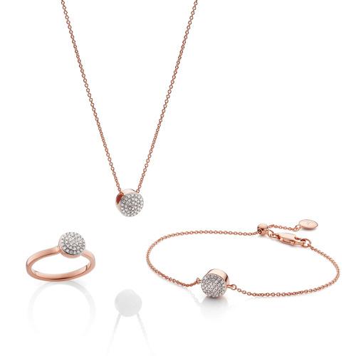 Fiji Button Ring, Necklace and Bracelet Diamond Set - Monica Vinader