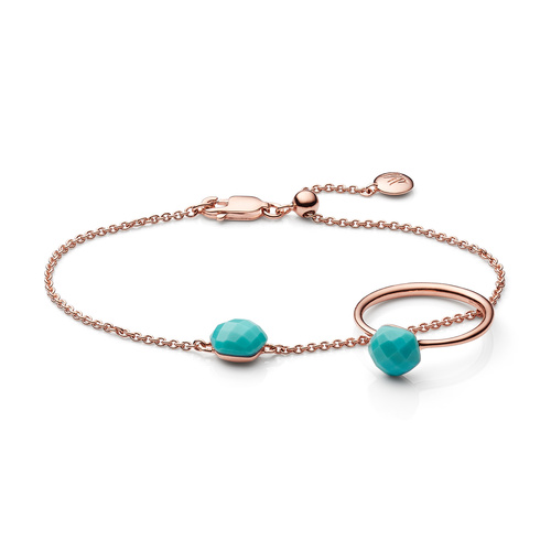 Nura Ring and Bracelet Set - Turquoise - Monica Vinader