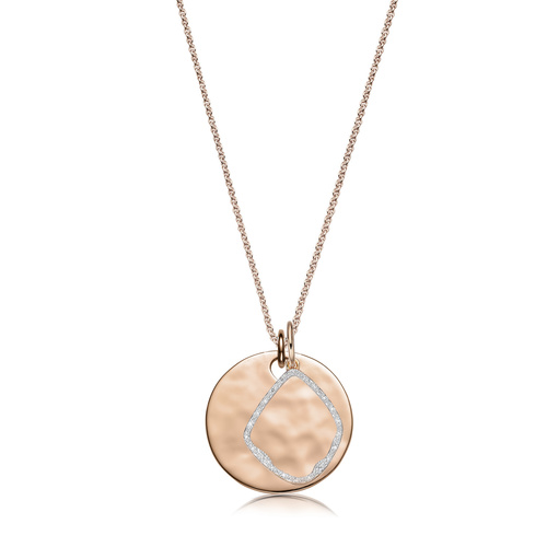 Havana Large Round and Riva Diamond Pendant Charm Necklace Set - Monica Vinader