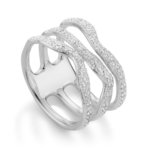Riva Wave Triple band ring