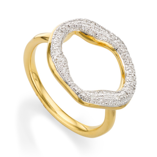 Gold Vermeil Riva Circle Ring