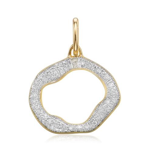 Gold Vermeil Riva Diamond Circle Pendant