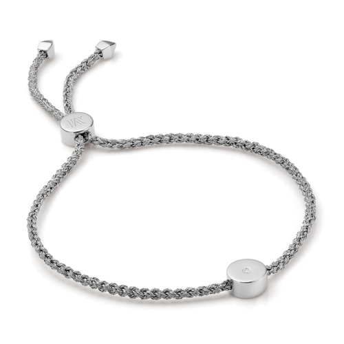 Linear Solo Friendship Diamond Bracelet - Diamond - Monica Vinader