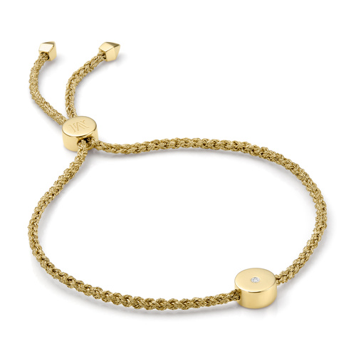 Gold Vermeil Linear Solo Friendship Diamond Bracelet - Diamond - Monica Vinader