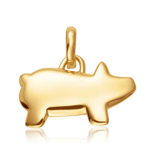 Gold Vermeil Chinese Zodiac Bessie The Pig Pendant Charm - Monica Vinader