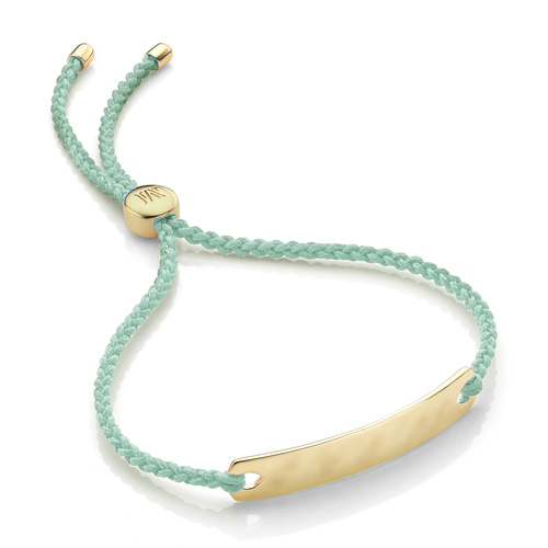 Gold Vermeil Havana Mini Friendship Bracelet - Mint - Monica Vinader