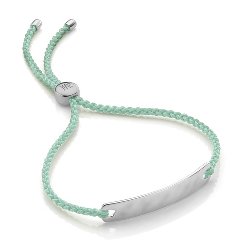 Sterling Silver Havana Mini Friendship Bracelet - Mint - Monica Vinader