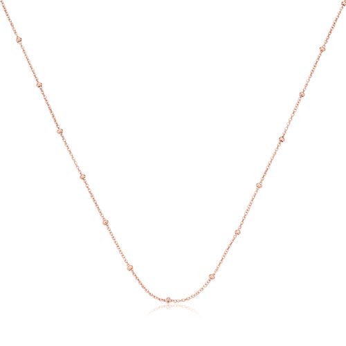 Rose Gold Vermeil Fine Beaded 16