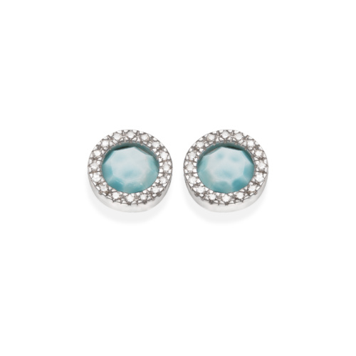 Naida Circle Stud Earrings - Larimar - Monica Vinader
